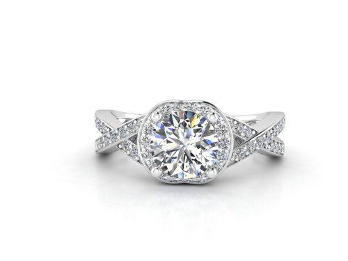 """טבעת-אירוסין-זהב-לבן-האלו-פאווה-קשרים-סה""""כ-0.80-קראט-יהלומים-2"""