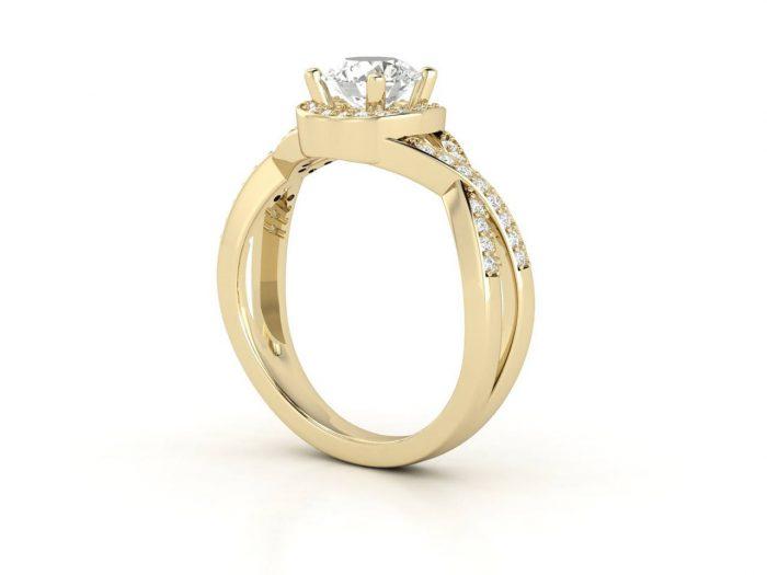 """טבעת-אירוסין-זהב-לבן-האלו-פאווה-קשרים-סה""""כ-0.80-קראט-יהלומים-3"""