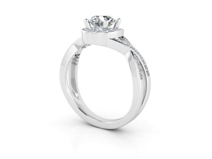 """טבעת-אירוסין-זהב-לבן-האלו-פאווה-קשרים-סה""""כ-0.80-קראט-יהלומים-4"""