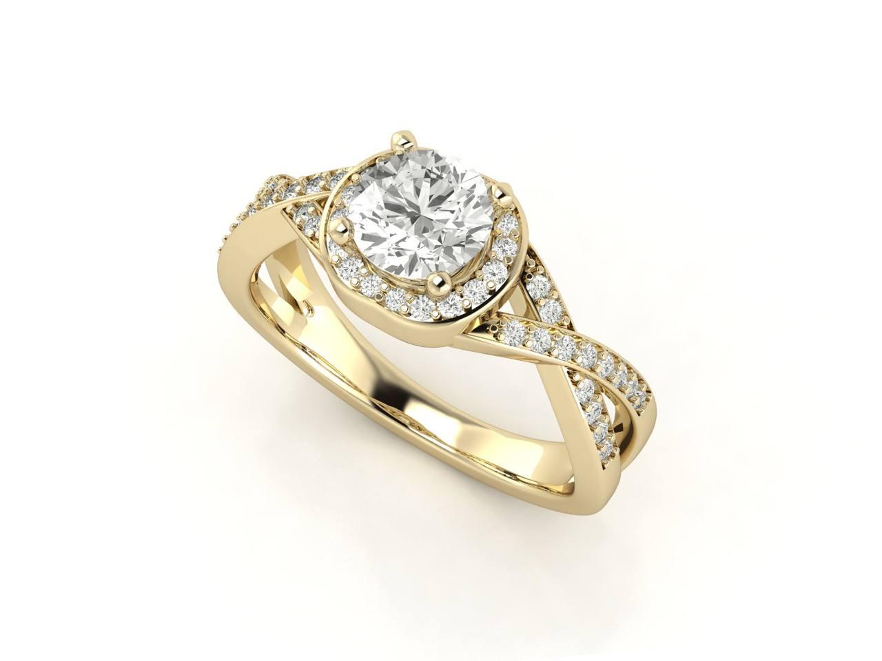 """טבעת-אירוסין-זהב-לבן-האלו-פאווה-קשרים-סה""""כ-0.80-קראט-יהלומים-5"""