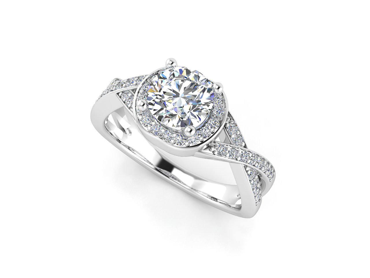 """טבעת-אירוסין-זהב-לבן-האלו-פאווה-קשרים-סה""""כ-0.80-קראט-יהלומים-6"""