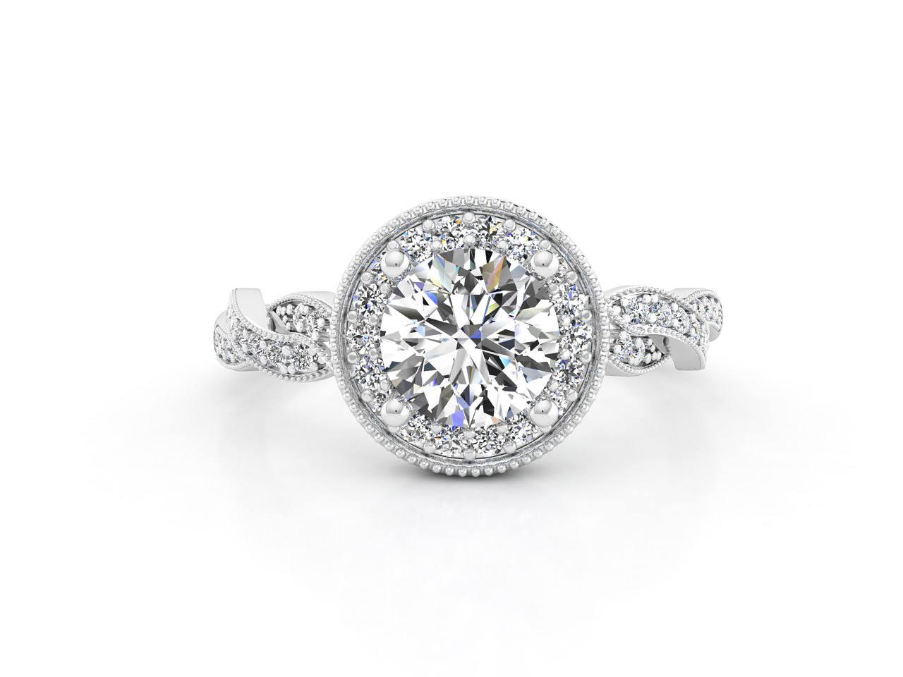טבעת אירוסין זהב לבן האלו פאווה קשרים 3
