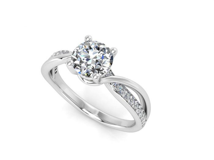 """טבעת-אירוסין-זהב-לבן-מעוצבת-אינפיניטי-טוויסט-סה""""כ-0.72-קראט-יהלומים-2"""
