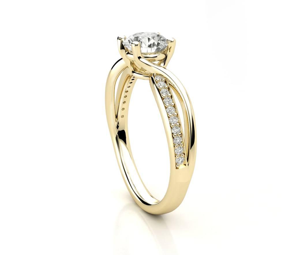 """טבעת-אירוסין-זהב-לבן-מעוצבת-אינפיניטי-טוויסט-סה""""כ-0.72-קראט-יהלומים-3"""
