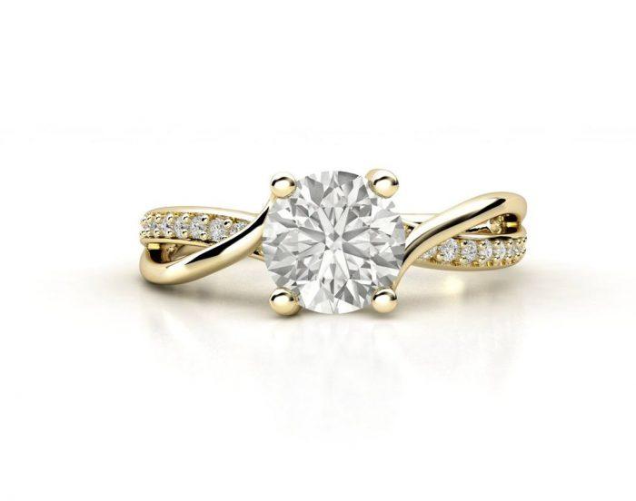 """טבעת-אירוסין-זהב-לבן-מעוצבת-אינפיניטי-טוויסט-סה""""כ-0.72-קראט-יהלומים-5"""