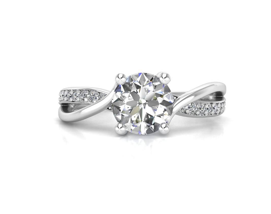 """טבעת-אירוסין-זהב-לבן-מעוצבת-אינפיניטי-טוויסט-סה""""כ-0.72-קראט-יהלומים-6"""