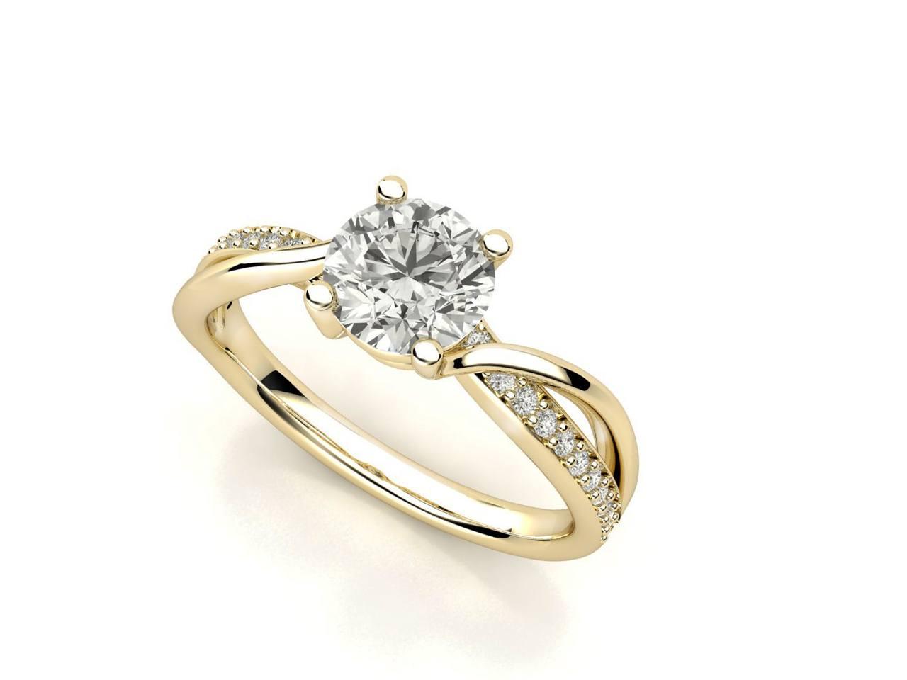 """טבעת-אירוסין-זהב-לבן-מעוצבת-אינפיניטי-טוויסט-סה""""כ-0.72-קראט-יהלומים"""