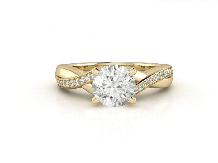 """טבעת-אירוסין-זהב-לבן-מעוצבת-אינפיניטי-סה""""כ-0.72-קראט-יהלומים-3"""