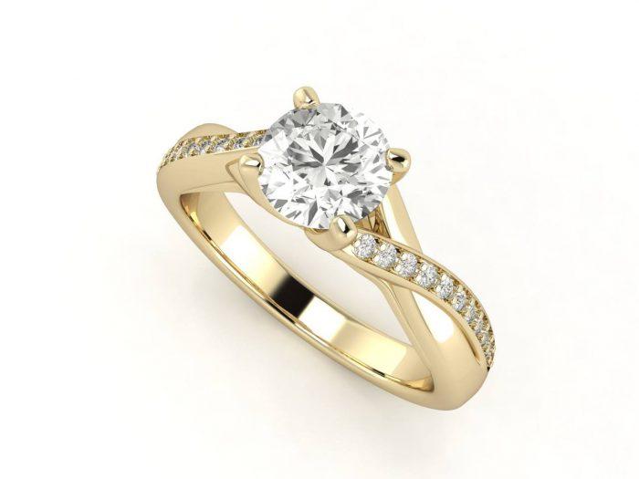 """טבעת-אירוסין-זהב-לבן-מעוצבת-אינפיניטי-סה""""כ-0.72-קראט-יהלומים-5"""