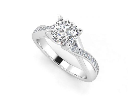 """טבעת-אירוסין-זהב-לבן-מעוצבת-אינפיניטי-סה""""כ-0.72-קראט-יהלומים-6"""