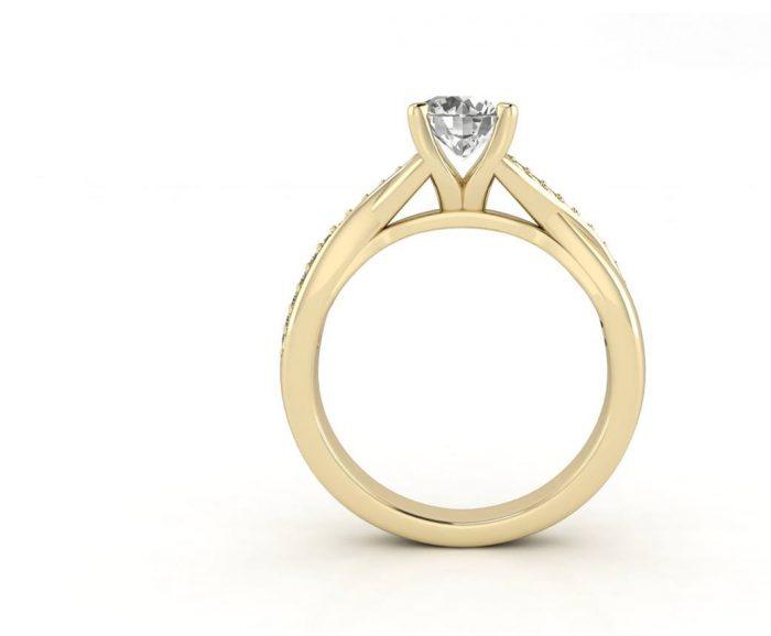 """טבעת-אירוסין-זהב-לבן-מעוצבת-אינפיניטי-סה""""כ-0.72-קראט-יהלומים"""