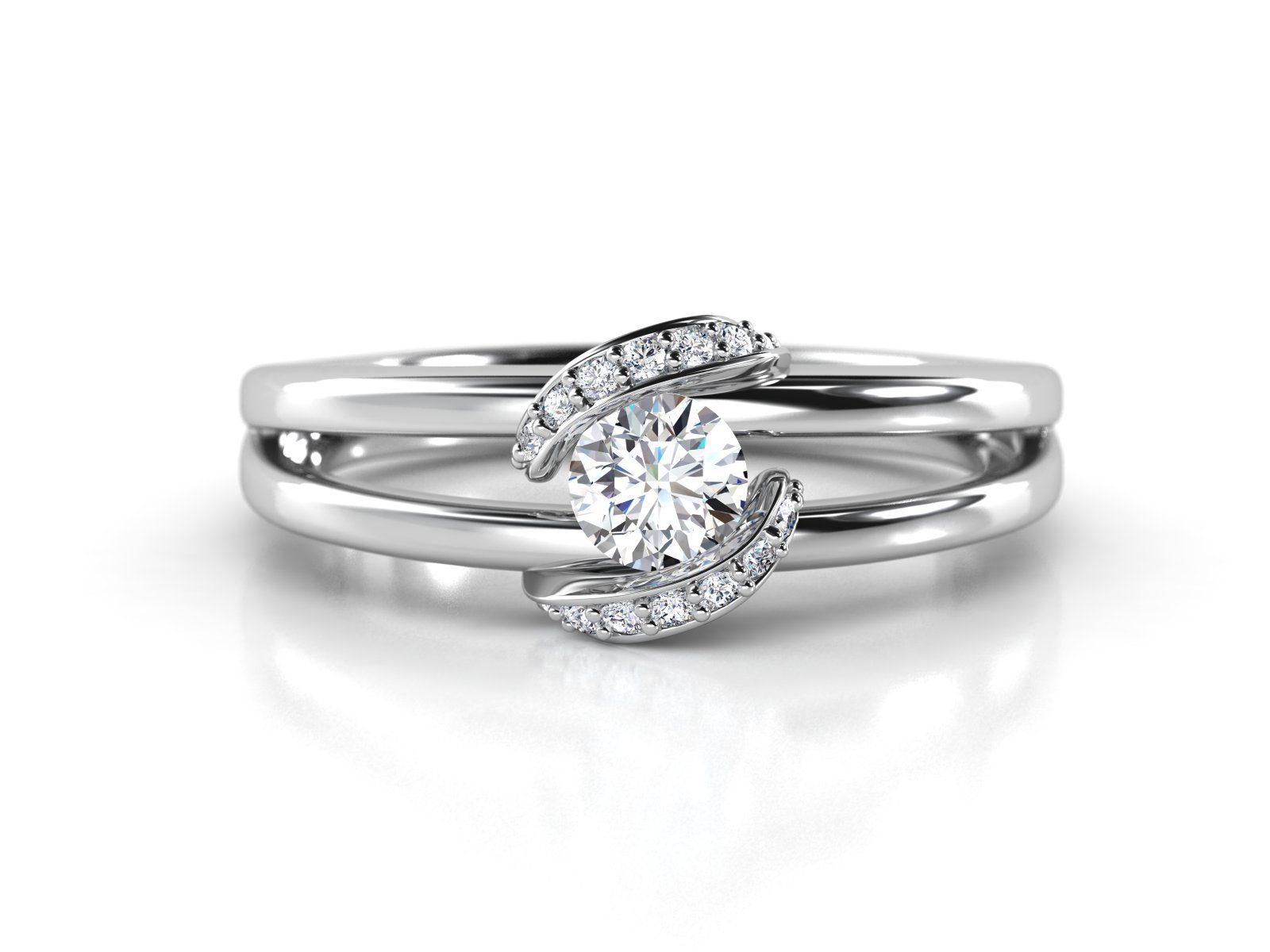 """טבעת-אירוסין-זהב-לבן-מעוצבת-בסגנון-מודרני-סה""""כ-0.30-קראט-יהלומים-3"""