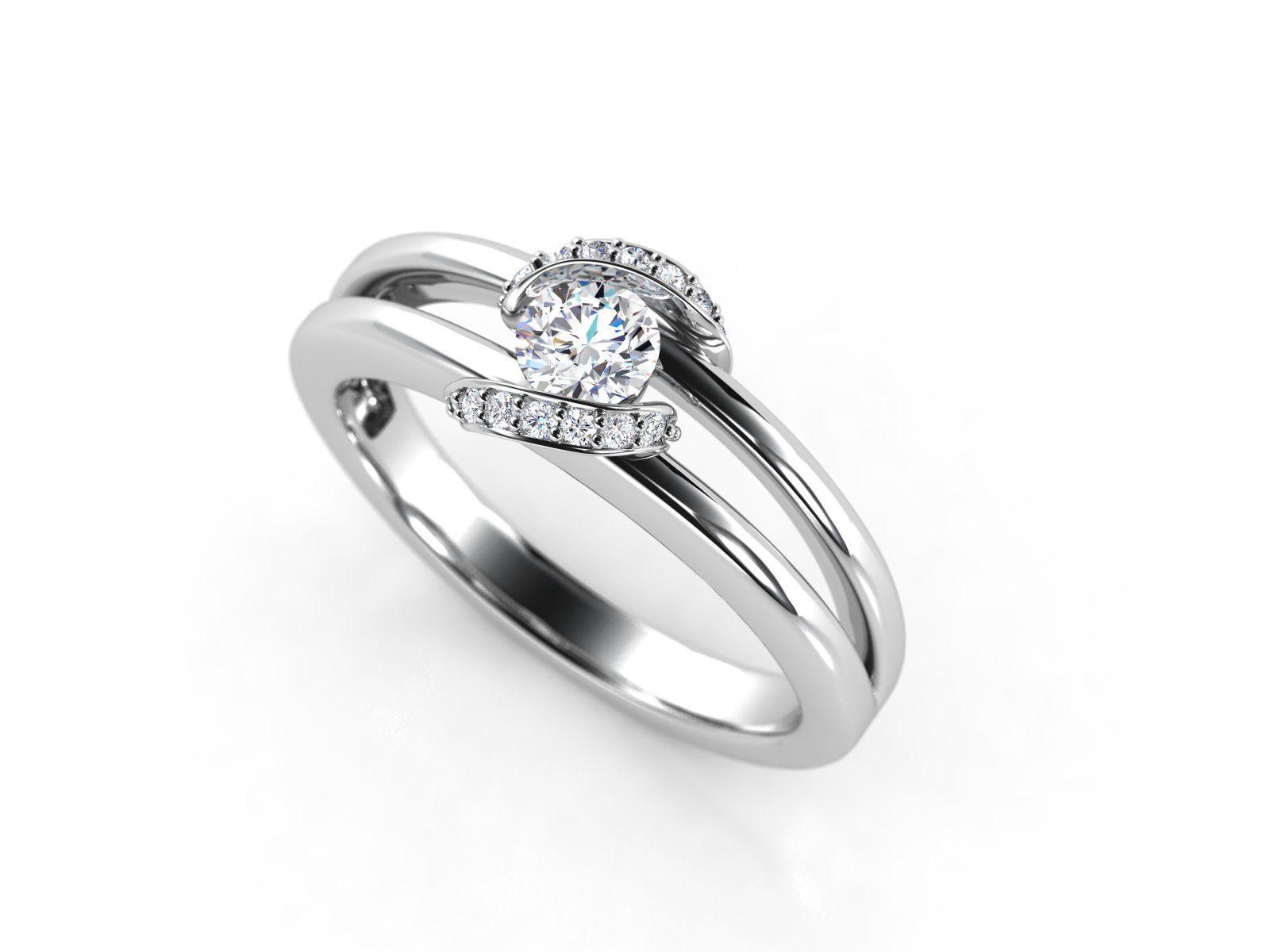 """טבעת-אירוסין-זהב-לבן-מעוצבת-בסגנון-מודרני-סה""""כ-0.30-קראט-יהלומים-7"""