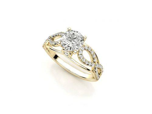 """טבעת-אירוסין-זהב-לבן-מעוצבת-פאווה-אינפיניטי-סה""""כ-0.84-קראט-יהלומים-5"""