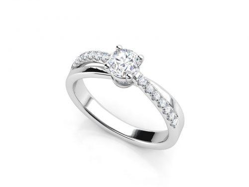 """טבעת-אירוסין-פאווה-קשתות-סה""""כ-0.47-קראט-יהלומים-3"""