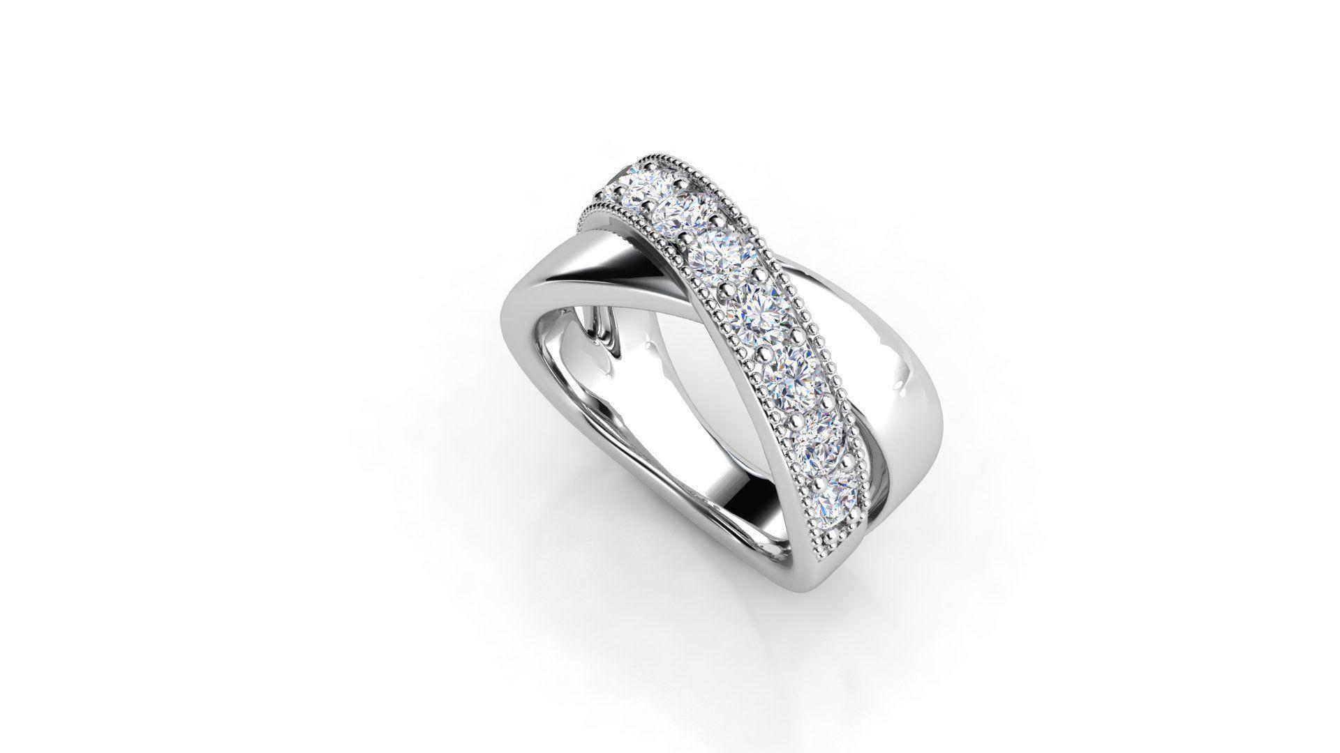 טבעת-יהלומים-של-קווים-משולבים