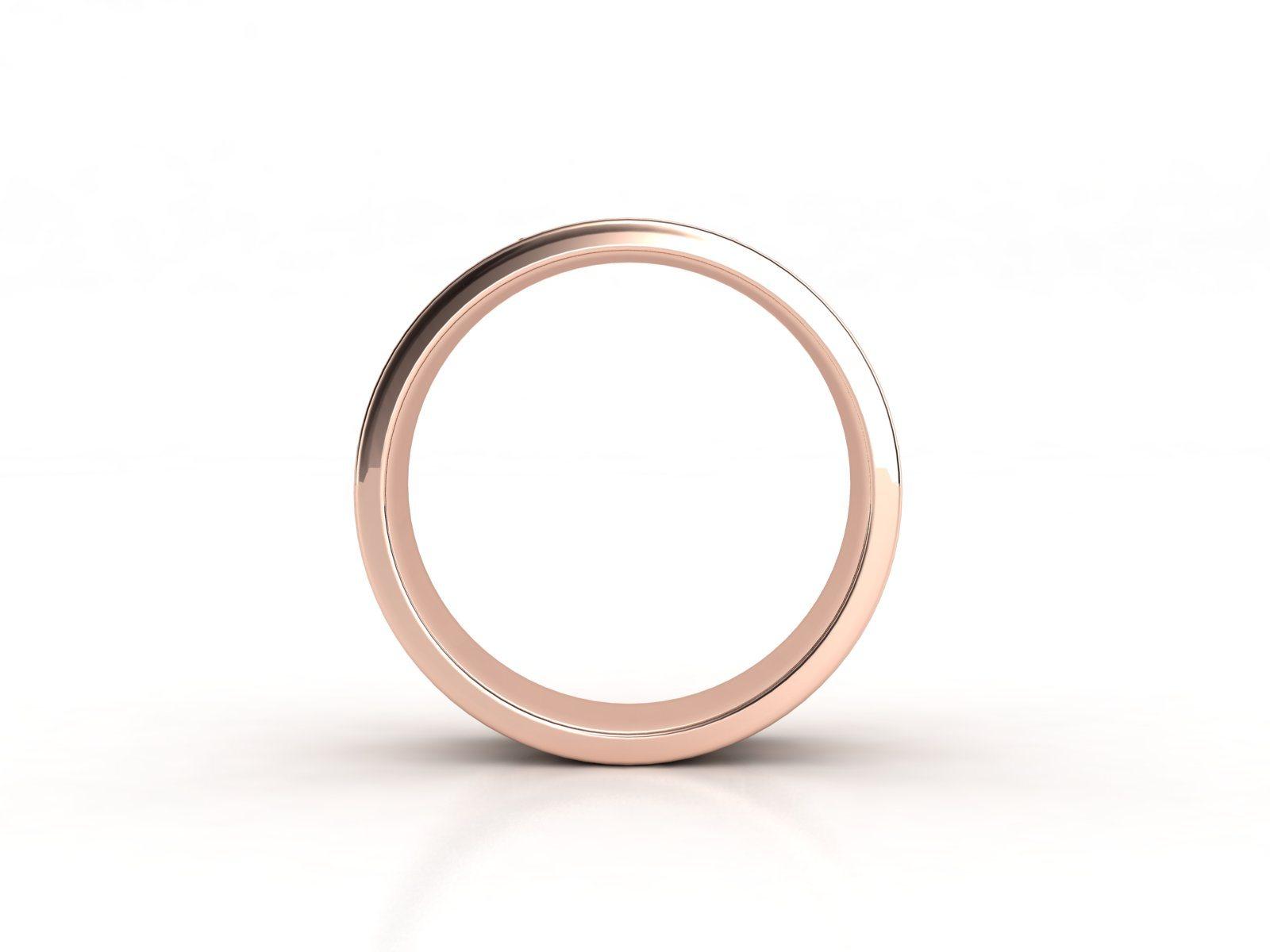 טבעת נישואין זהב אדום לגבר וינטאז' 3