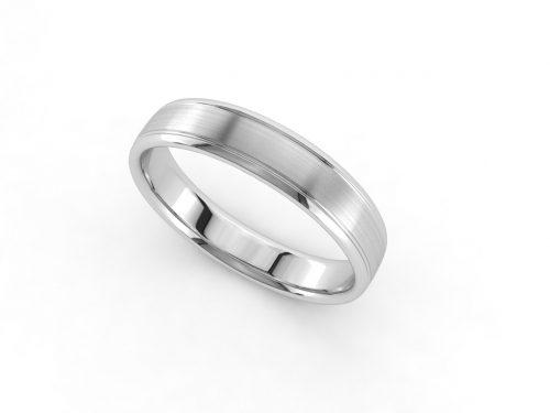 טבעת נישואין זהב לבן לגבר אימפריאל