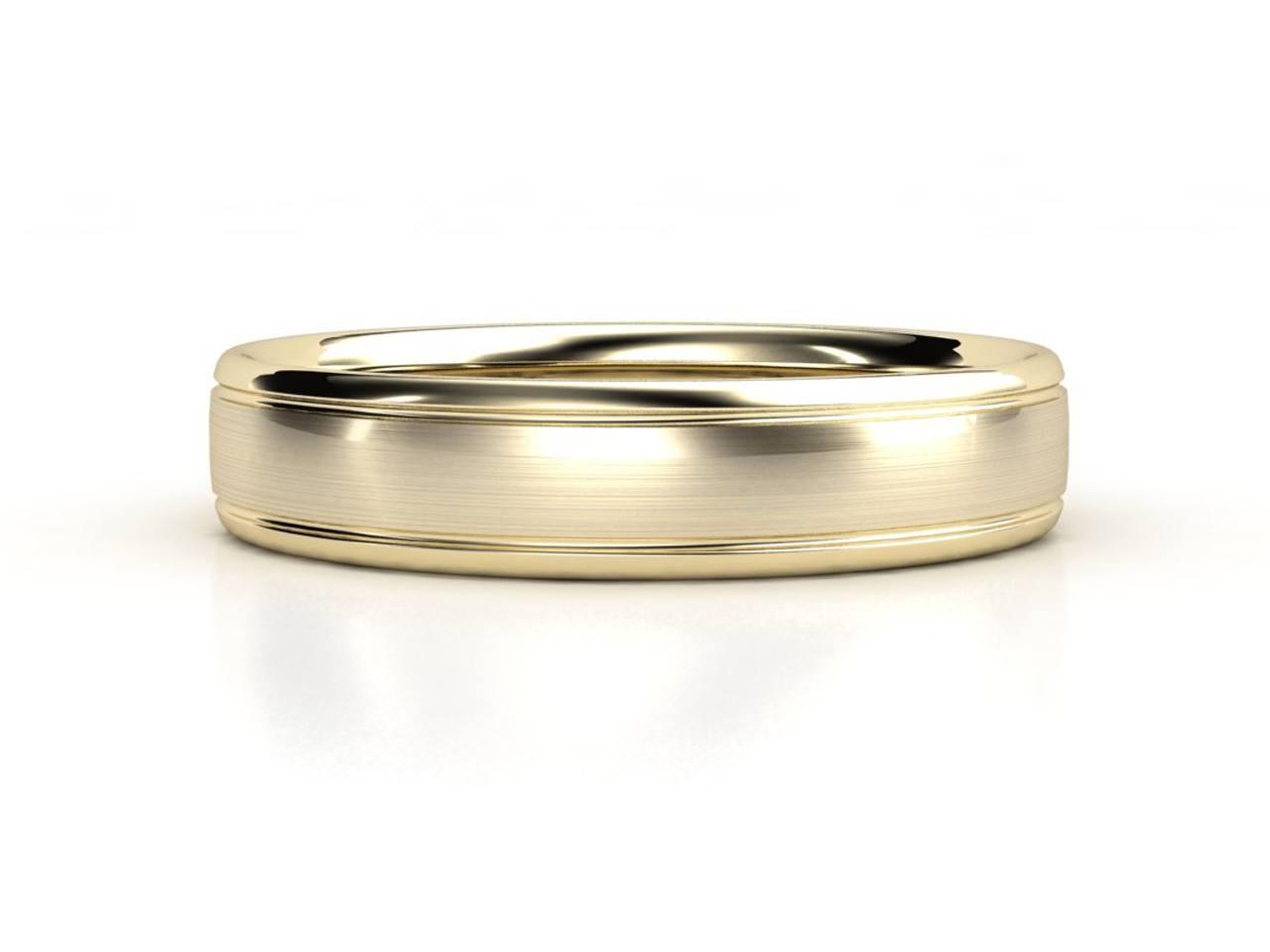טבעת נישואין זהב צהוב לגבר אימפריאל 6