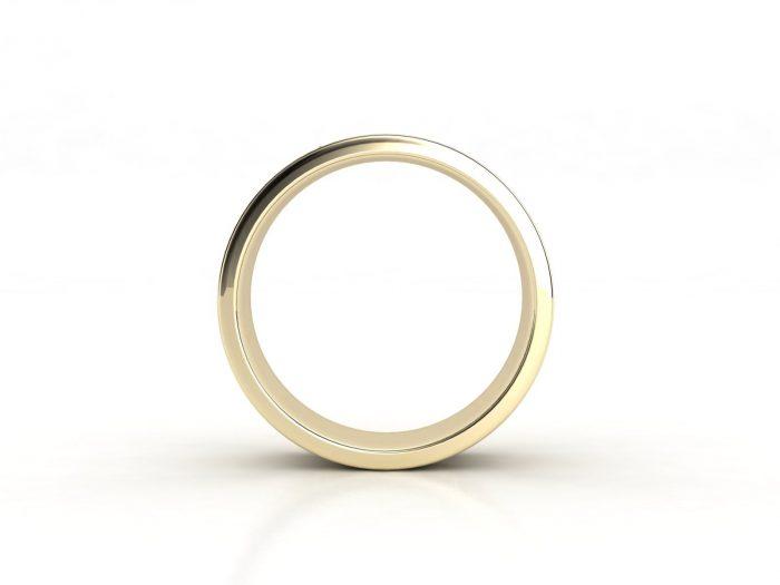 טבעת נישואין זהב צהוב לגבר וינטאז' 3