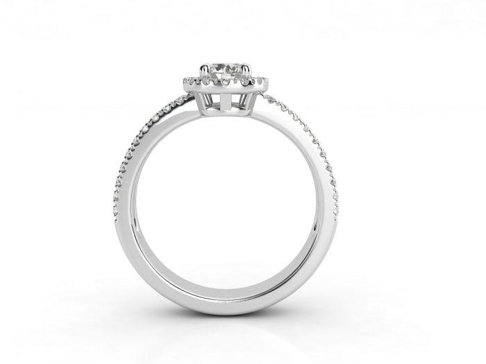 טבעת אירוסין זהב לבן האלו דאבל פאווה רוייל 2