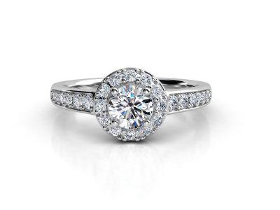 טבעת אירוסין זהב לבן האלו פאווה קתדרלה 3