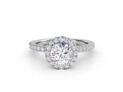 טבעת אירוסין זהב לבן האלו פאווה רוייל ליפט 2