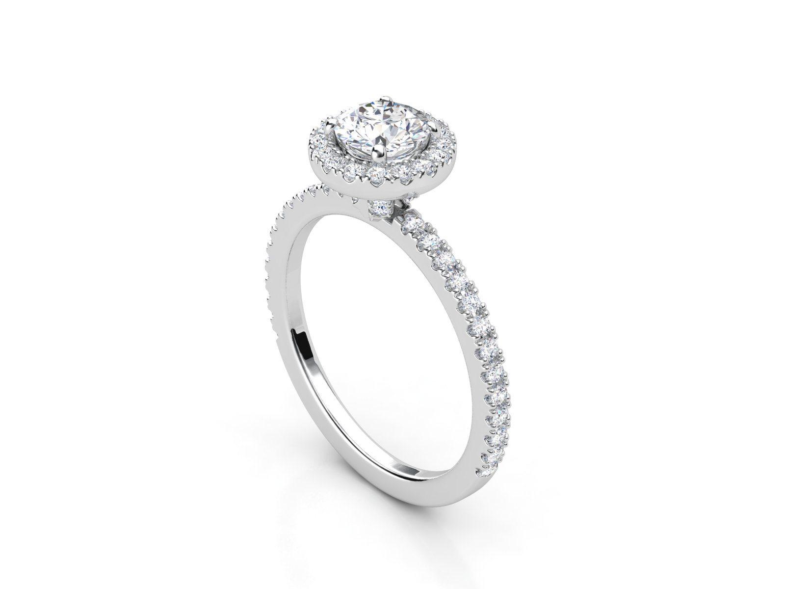טבעת אירוסין זהב לבן האלו פאווה רוייל ליפט 3