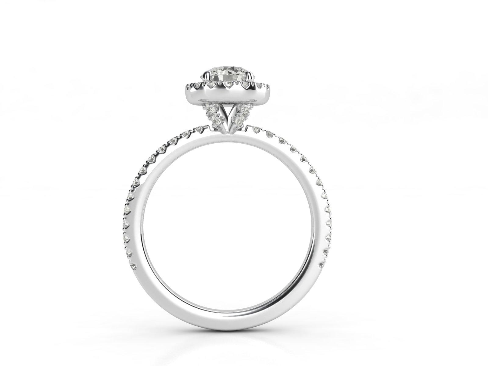 טבעת אירוסין זהב לבן האלו פאווה רוייל ליפט 4