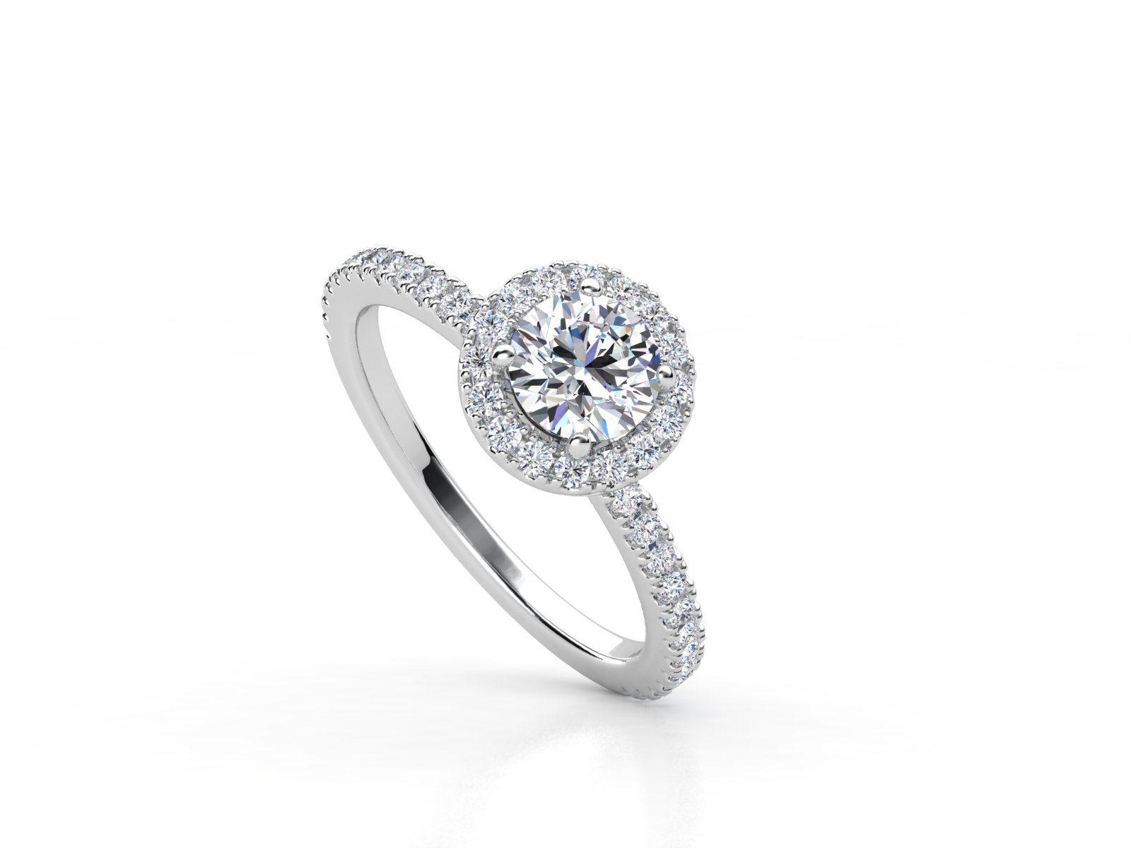 טבעת אירוסין זהב לבן האלו פאווה רוייל ליפט