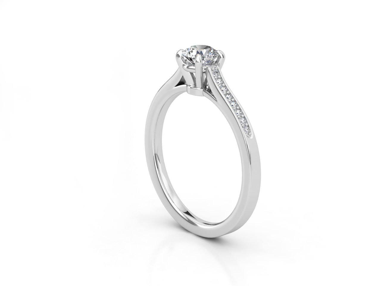 טבעת אירוסין זהב לבן צ'אנל 2