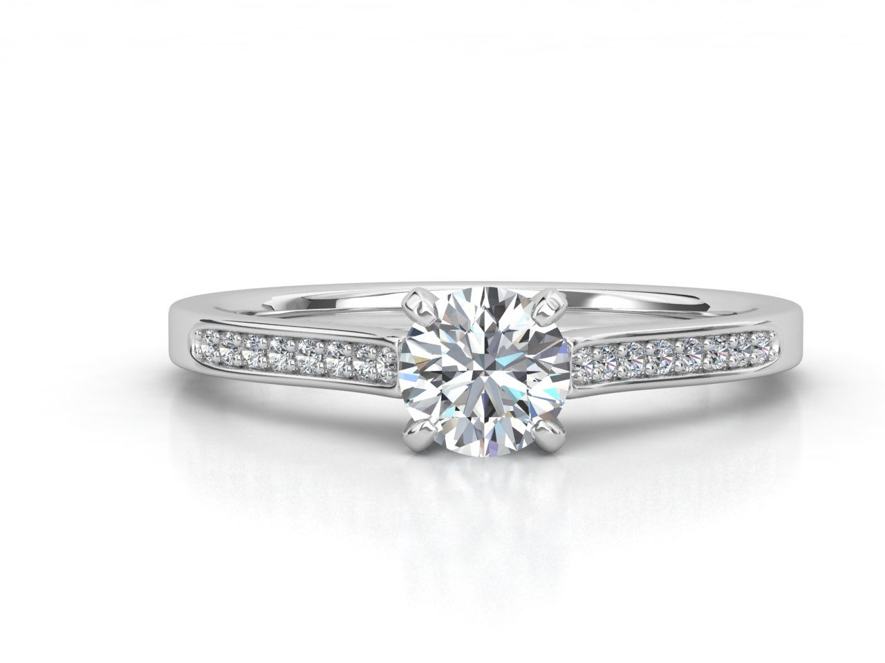 טבעת אירוסין זהב לבן צ'אנל 3