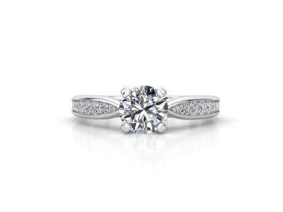 טבעת אירוסין זהב לבן צ'אנל