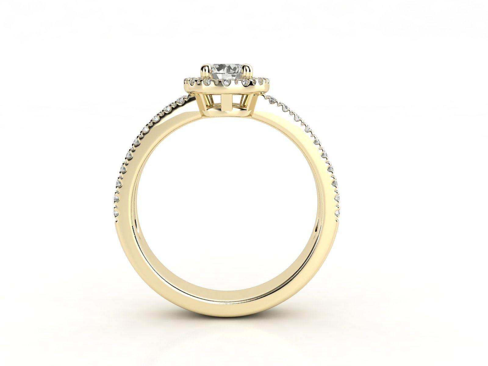 טבעת אירוסין זהב צהוב האלו דאבל פאווה רוייל 2
