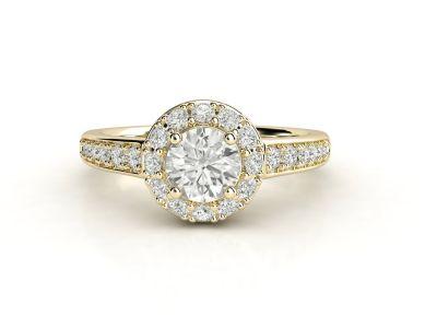 טבעת אירוסין זהב צהוב האלו פאווה קתדרלה 3