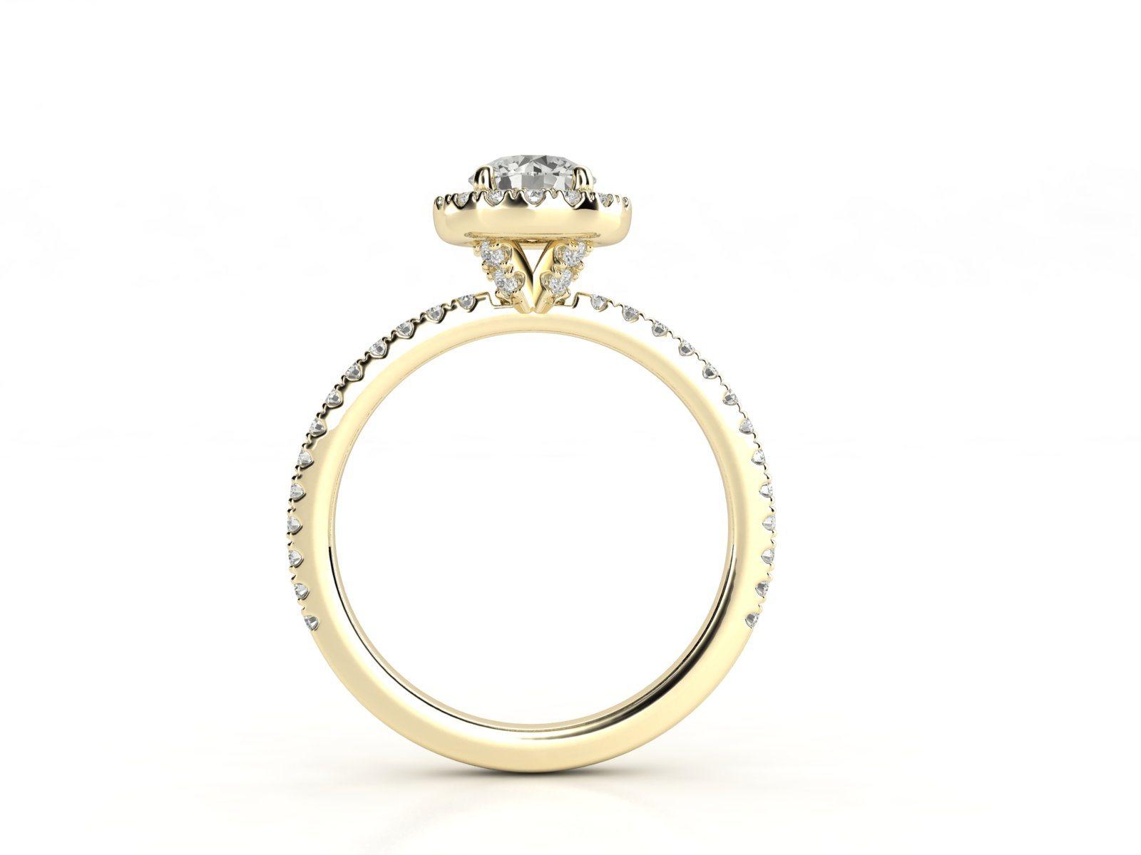 טבעת אירוסין זהב צהוב האלו פאווה רוייל ליפט 3