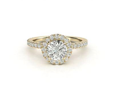 טבעת אירוסין זהב צהוב האלו פאווה רוייל ליפט