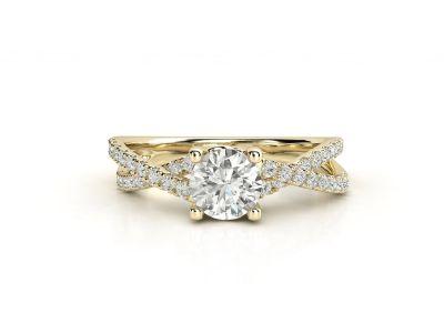 טבעת אירוסין זהב צהוב פאווה קשרים יוניקו 3