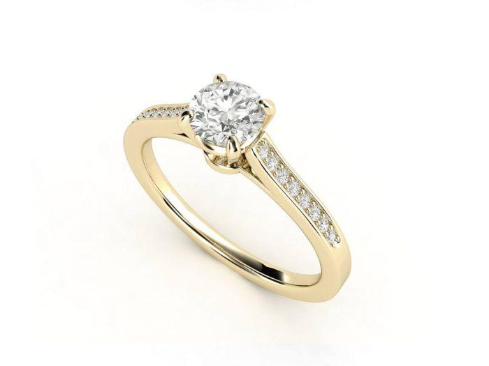טבעת אירוסין זהב צהוב צ'אנל