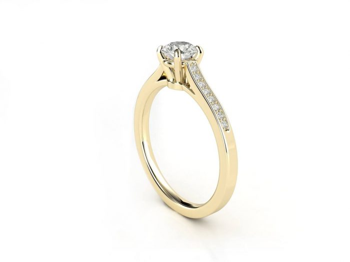 טבעת אירוסין זהב צהוב צ'אנל 2