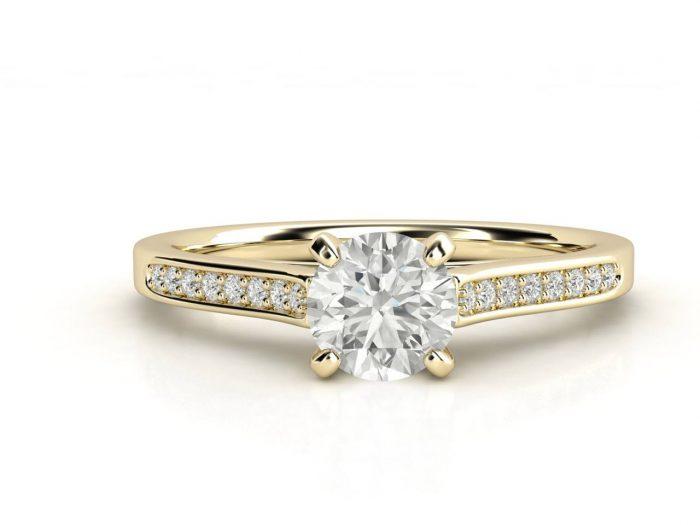 טבעת אירוסין זהב צהוב צ'אנל 3