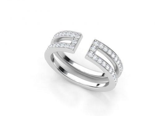 טבעת יהלומים דואלינה