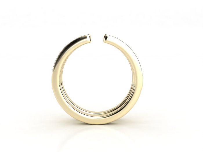 טבעת יהלומים זהב צהוב דואלינה 2