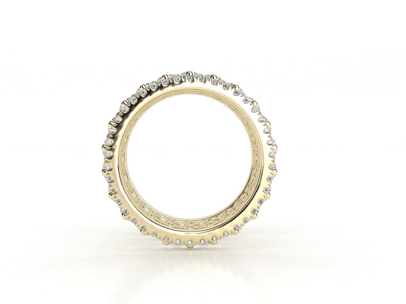 טבעת יהלומים זהב צהוב פאווה נצחיות פרמיום, סהכ 4.16 קאראט יהלומים 3