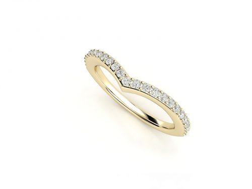 טבעת נישואין זהב צהוב פאווה חץ