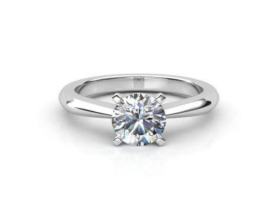 טבעת אירוסין זהב לבן סוליטר דקה - 1.03 3